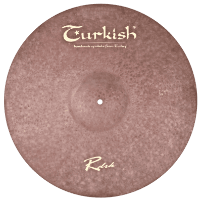 "Turkish Cymbals 22"" Raw Dark Series Raw Dark Ride RDRK-R22"