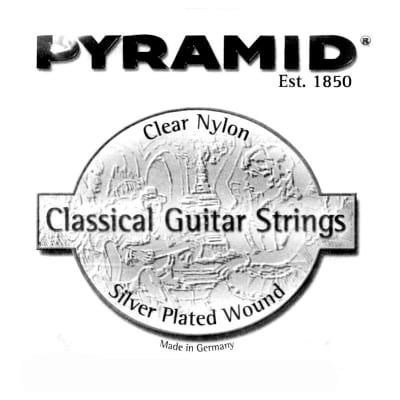 Pyramid Clear Nylon 3-G Classical Single String Medium Tension.