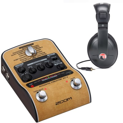 Zoom AC-2 Acoustic Guitar Effect Pedal & Resident Audio R100 Headphones
