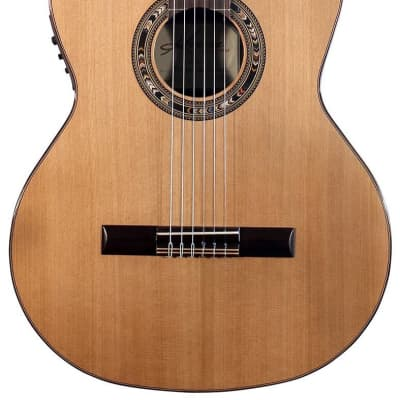 Kremona Performer Series Verea Solid Cedar Top Nylon String Classical Acoustic Electric Guitar With Bag for sale