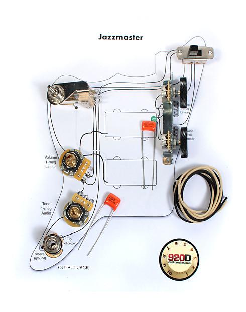 Jazzmaster Wiring Diagram : Fender vintage jazzmaster wiring kit pots switch slider