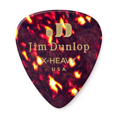 Dunlop 483R05XH Celluloid Standard Classics Extra Heavy Guitar Picks (72-Pack)