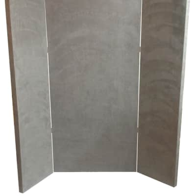 Portable Mic-Booth-Bass-Trap-6-x6-NEW-DESIGN-FOR-2020-Gray-Microsuede-Vocal-Booth
