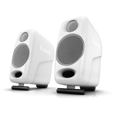 Opened Box IK Multimedia iLoud Micro Wireless Bluetooth Studio Monitors Pair; Special Edition White