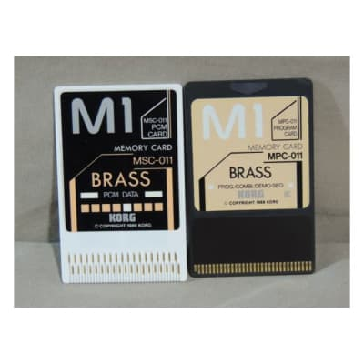 Korg M1 Brass sound cards MSC-011 and MPC-011 for M-1 & M1R [Three Wave Music]