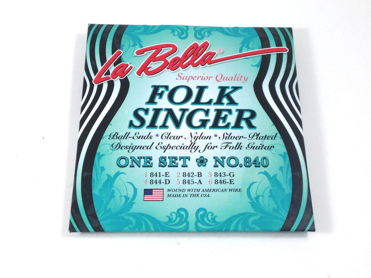 la bella guitar strings folk singer 840 ball end nylon for reverb. Black Bedroom Furniture Sets. Home Design Ideas