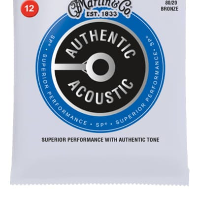 Martin Authentic Acoustic 80/20 Bronze Light 12-54 MA140