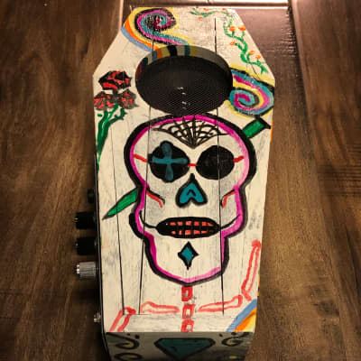 Margasa Coffin Mini Amplifier 2020 Día de Los Muertos Green for sale