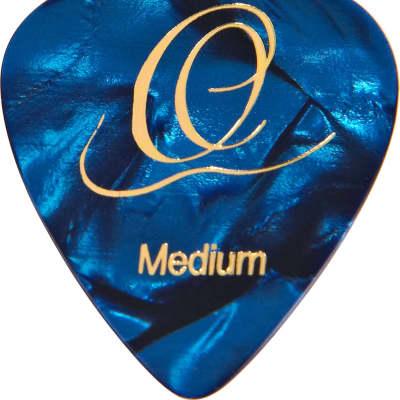 Ortega Guitars OGP-BP-H10 Classic Heavy Blue Pearl Guitar Pick, Set of 10