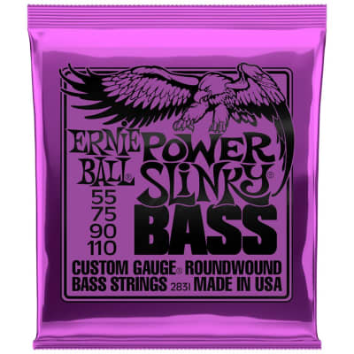 Ernie Ball Power Slinky 55-110 4-String Bass Guitar Strings
