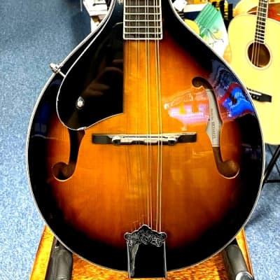 Ashbury AM-10SBL A Style Mandolin, Left Handed in Sunburst for sale