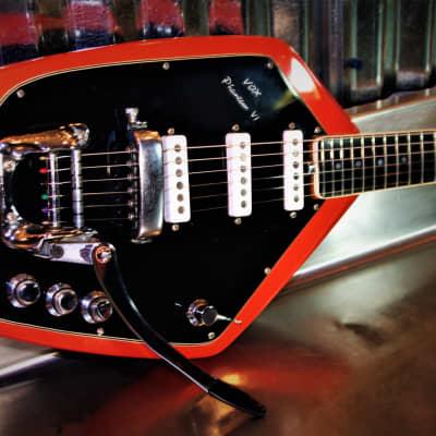 Vox Phantom VI 1966 Fiesta Red.  Refurbished. VOX original. Six string UK guitar. Beautiful. Only 1. for sale