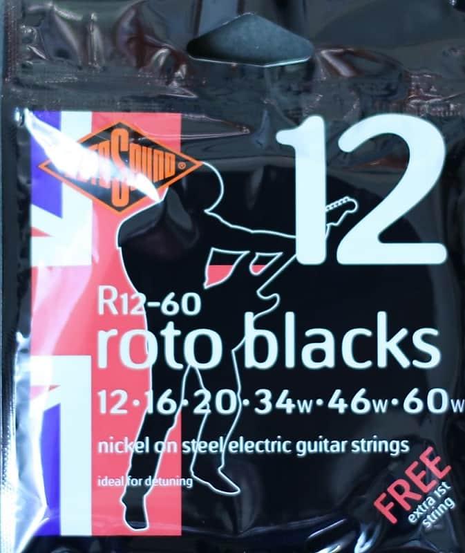 Rotosound R12 60 RotoBlacks Electric Guitar Strings Gauge