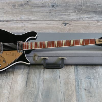 Clean & Rare! 1993 Rickenbacker 660/12TP Tom Petty Signature Electric Guitar Jetglo + OHSC for sale