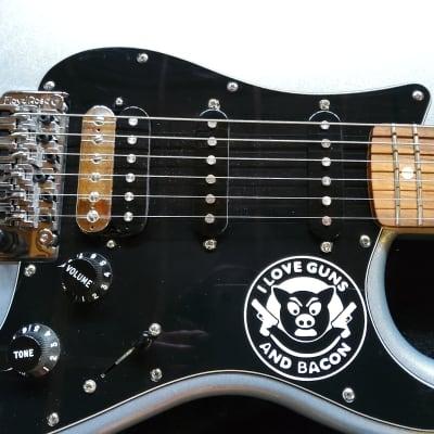 Fender Standard Stratocaster HSS w/Floyd Rose Tremolo Pau Ferro  Ghost Silver for sale