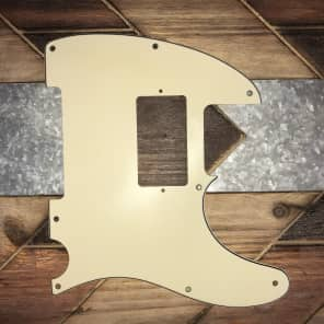 Real Life Relics Tele Telecaster Pickguard 3 ply 8 hole Mint Green Aged With Humbucker Opening