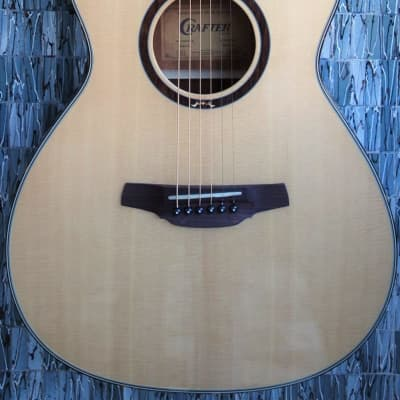 Crafter HTE-600 Solid Spruce Top Electro-Acoustic Guitar, Natural for sale