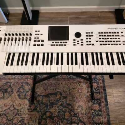 Yamaha MOTIFXF6WH Motif XF6 XF-6 WH White Synth Synthesizer | Reverb