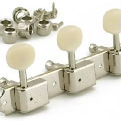 Kluson Kluson 3 On A Plate Deluxe Series Tuning Machines 2020 Nickel for sale