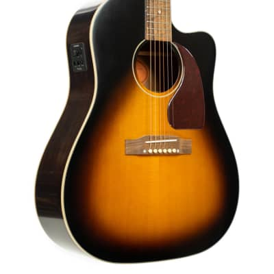 Epiphone Inspired By Gibson J-45 EC Acoustic-Electric Guitar - Aged Vintage Sunburst Gloss for sale
