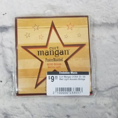 Curt Mangan 31254 12-54 Med Light Acoustic Strings