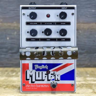 Electro-Harmonix English Muff'n Vacuum Tube Overdrive Effect Pedal w/Adapter