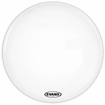 "Evans BD30MX1W MX1 White Marching Bass Drum Head - 30"""