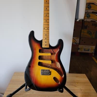 Conqueror Sunburst Strat-style Guitar - Project for sale