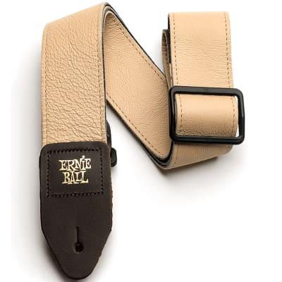 Ernie Ball Tri-Glide Italian Leather Strap - Tan for sale