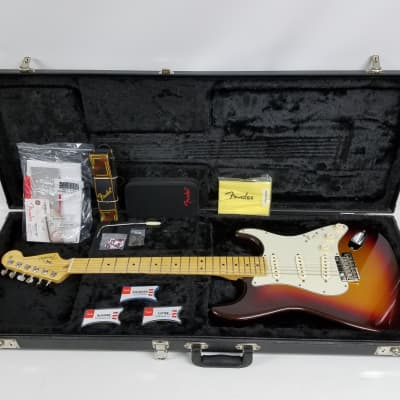 2013 Fender American Deluxe Stratocaster Plus 6-String Electric Guitar -Mystic Sunburst for sale