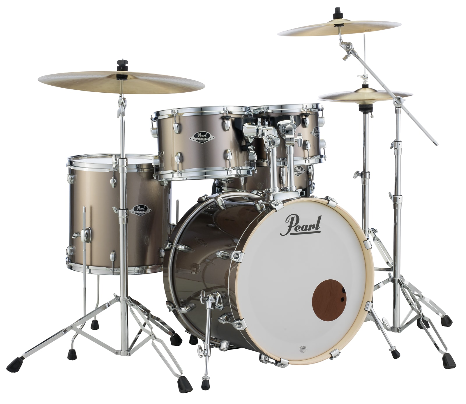 Pearl 5pc Export  Drum Kit in #706 Bronze Metallic / INCLUDES Complete 830 Hardware Pack