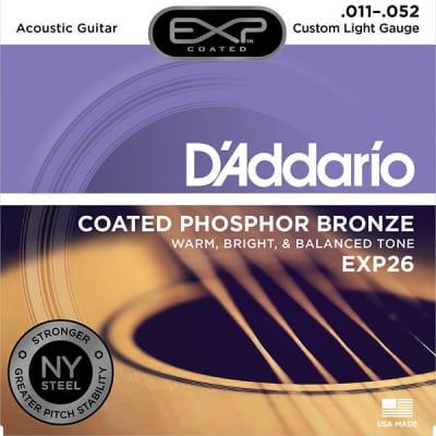 D'Addario Custom Light, 11-52, Acoustic Guitar Strings Single Set EXP26^