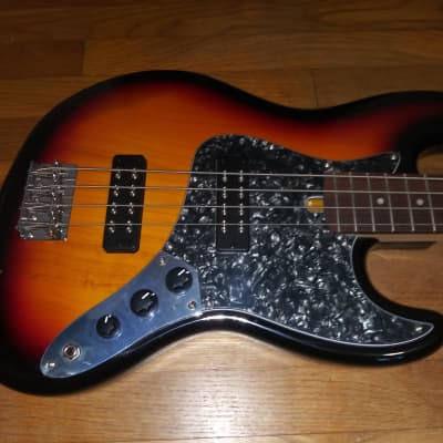 Bacchus  BJB Super Jazz Bass Double Humbucker 3TS Sunburst Awesome Player! for sale