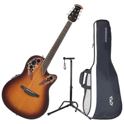 Ovation CE48-1 Celebrity Elite Super Shallow A/E Guitar Bundle