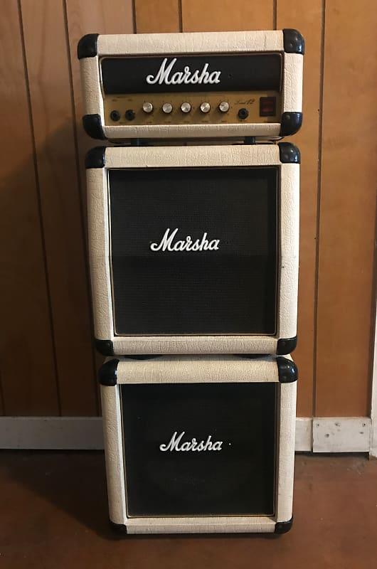 marshall lead 12 mini stack 1980 s rare white color reverb. Black Bedroom Furniture Sets. Home Design Ideas