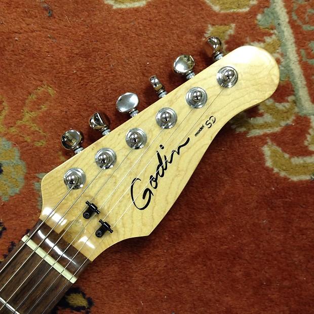 Godin Sd 24 Electric Guitar Transparent Red Price Drop Reverb