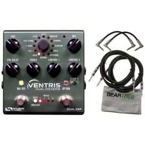 Source Audio SA262 Ventris Dual Reverb Effect Pedal w/ 4 Cables and Cloth