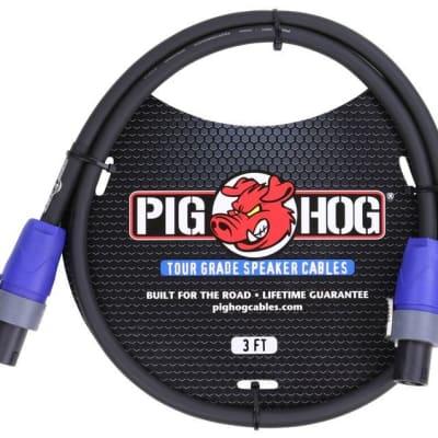Pig Hog Speaker Cable, Speakon to Speakon, 3ft