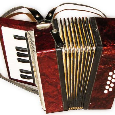 Vintage Russian Children button accordion bayan Harmonica | Reverb