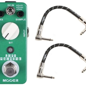 New Mooer LoFi Machine Sample Reducing Pedal with Fender Cables!
