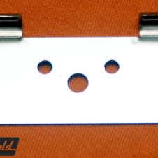 Adapter bracket to swap Rickenbacker R tailpiece for trapeze