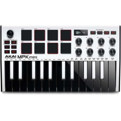 Akai Professional MPK Mini MKIII 25-Key MIDI Controller (White)