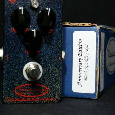 Collectors Quality Keeley 3 Knob Compressor 2006 s/n A7560 Black Sparkle/Red 5th Anniversary Edition