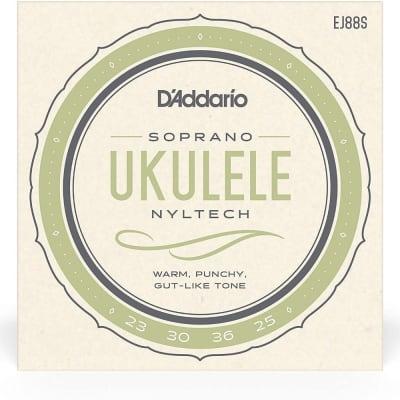 D'Addario Nyltech Ukulele Strings - EJ88S Soprano