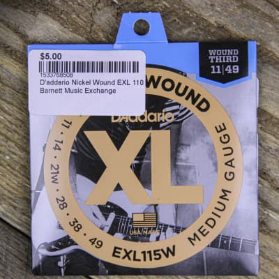 D'Addario EXL115 Nickel Wound Medium Blues/Jazz Electric Guitar Strings, .011 - .049