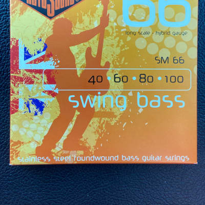 Rotosound SM66 Swing Bass 66 Roundwound Stainless Steel Bass Strings - Hybrid (40-100)