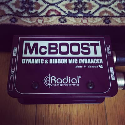 Radial Engineering McBoost Mic Signal Booster for Dynamic & Ribbon Microphones! -Used *Mint in Box!