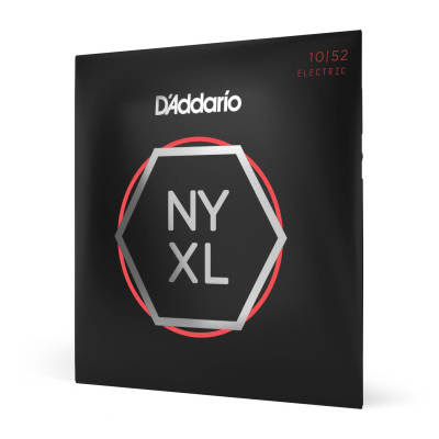 D'Addario NYXL1052 Nickel Wound Light Top / Heavy Bottom Electric Guitar Strings, 10-52 Nickel