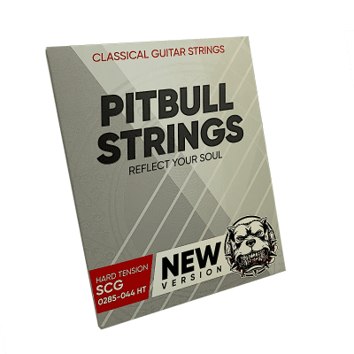 Premium Classical Guitar Strings - Pitbull Strings Silver Series -  0285-044 Hard Tension - SCG-HT