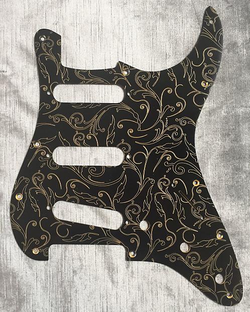 Custom Floral Paisley Sunburst Pickguard fits Fender® Stratocaster® Strat® style